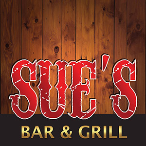 Sues Bar and Grill Sticky Logo